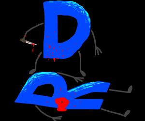 The Drawception D has become a murderer.
