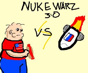 Usa vs. Russia nuclear war 3:0