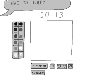 Only 13 secs left and your drawing not ready