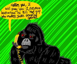Gorilla hires hitman using a banana
