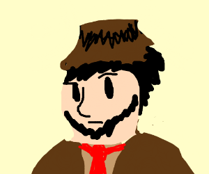 Jontron dressed as a Mafia member