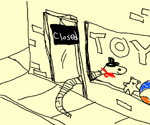 worm sneaks into toy shop