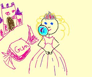 princess bubble gum
