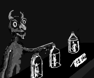 Demon kid has a human soul stand. Souls 1$.