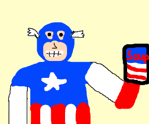 Captain America advertises Patriotic Soup