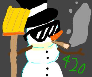 The Effects Of Smoking On Snowmen Drawception