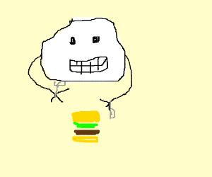A Cloud Eating A Cheeseburger