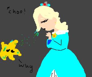 princess rosalina sneezes on a luma