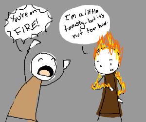 Man on Fire in Denial