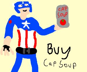 Captain America advertises soup