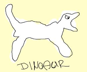 Dinosaur doing pole vault