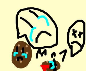potato mourning for dead potato child