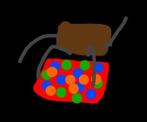 Dancing brown box/Hershey's chocolate rave
