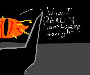 Eye of Sauron has insomnia