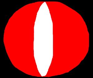 Red eye on black background (eye of sauron?)