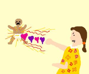 Mumma punish baby with gut love punch