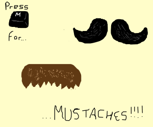 M=mustache