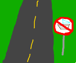 No sailing on the road