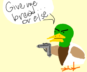 Duck wants bread