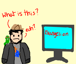 Jontron is confused by Evangelion