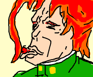 Kakyoin licks a cherry (rero rero rero)
