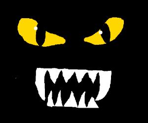 nightmare monster in the dark