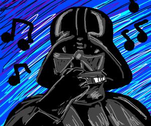Darth Vader on harmonica