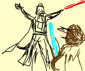 Darth Vader VS Jedi King
