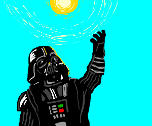 Darth Vader stops fighting to praise the sun