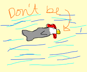 Don't be chicken faced fish