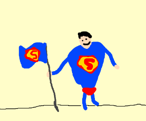 Superman Claims His Territory