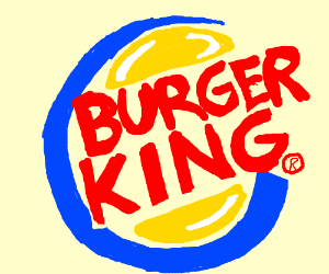 the burger king logo drawing by thegeekartist drawception. Black Bedroom Furniture Sets. Home Design Ideas