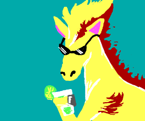 Ponyta with a Margarita