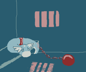 dratini is convicted, wearing ball and chain