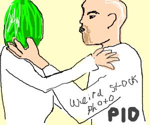 draw a weird stock photo PIO