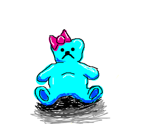 Loveable blue Teddy Bear is left all alone :(