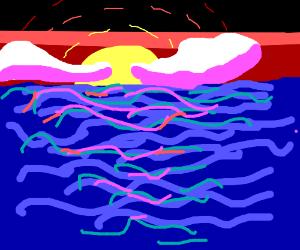 SSunset at sea