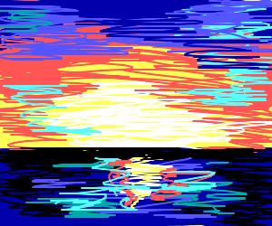 A nice sunrise over the ocean
