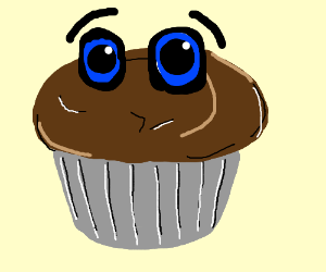 muffin with eyes
