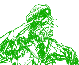 Big Boss Saluting