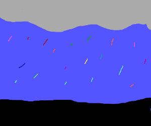 Colourful storm