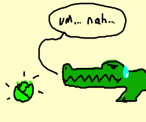Crocodile does not want cabbage