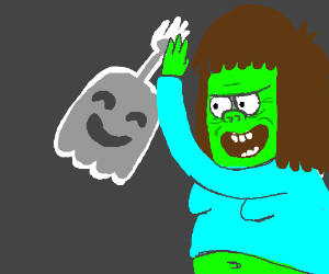 High 5 ghost and muscle man from regular show