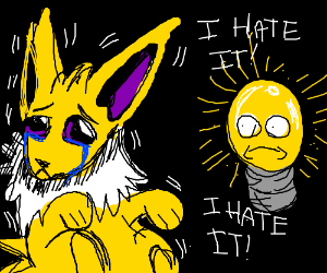 Why does jolteon doesn't like bulbs?