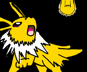 Jolteon is scared of a lightbulb