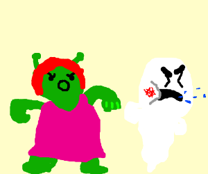 Fiona Punches Casper the Friendly Ghost