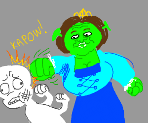 Fiona fights a ghost