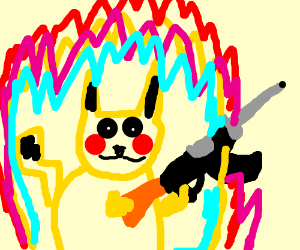 Pikachu gearing up for war