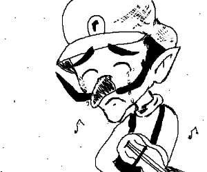 Waluigi moved to tears by violin