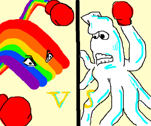 Rainbow vs squid thing
